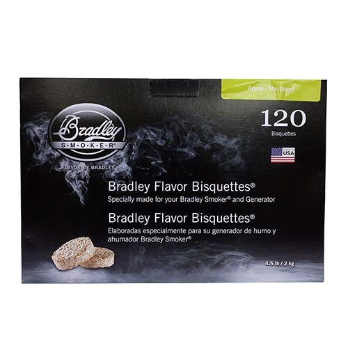 Bradley Smoker Apple Bisquettes 120 pack by Bradley Smoker
