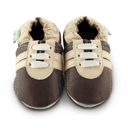 Snuggle Feet - Suaves Zapatos De Cuero Del Bebé Zapatillas marrones (18-24 meses)
