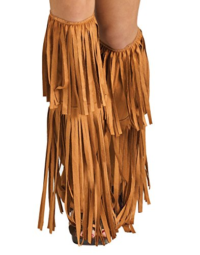 Hippie Shoes Costume (Hippie Fringe Boot Covers, Brown, One Size)
