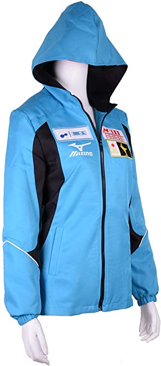 RedCoser Unisex High School Sportswear Jacket Light Blue Athletic Hoodie
