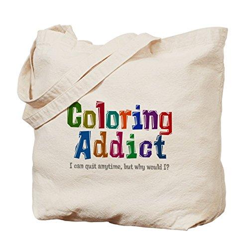 CafePress adicto a la–color gris–Gamuza de bolsa de lona bolsa, bolsa de la compra
