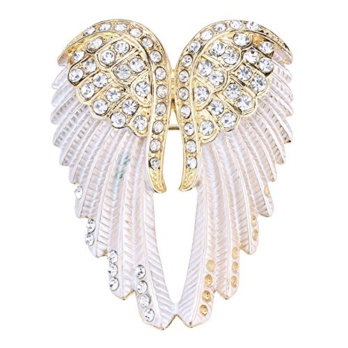 - Szxc Jewelry Women's Crystal Angel Wings Pin Brooches Pendants