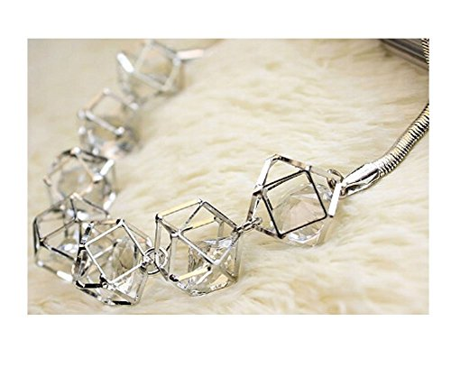 [Sunne Exaggerated Fashion Jewelry Alloy Crystal Retro Decorative Clavicle Necklace(Silver)] (Jewish Mother Rachel Costume)