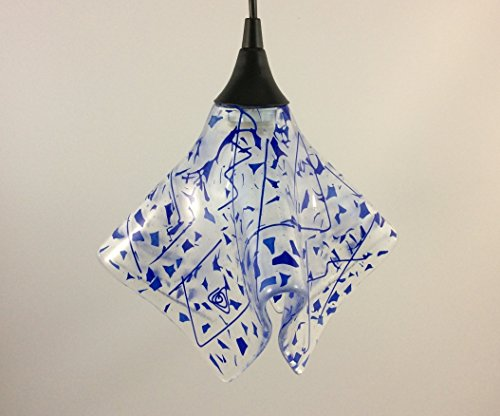 Confetti Glass Pendant Light Shade - Available in Different Colors and 2 Sizes (Confetti Ceiling Light)