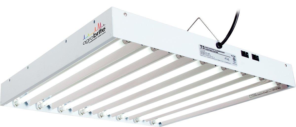 Hydrofarm Agrobrite FLT28 T5 Fluorescent Grow Light System, 2 Foot, 8 Tube by Hydrofarm