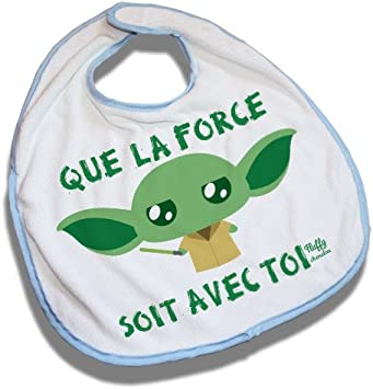 Bavoir Bleu Yoda Que La Force Soit Avec Toi Star Wars Kawaii Chibi By Fluffy Chamalow Chamalow Shop