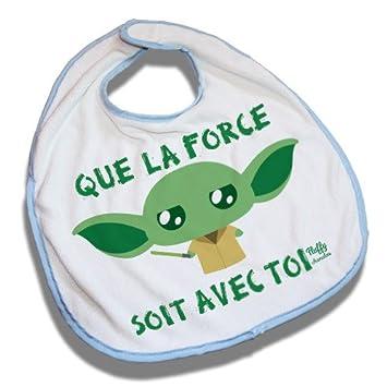 Fluffy Chamalow Star Wars Yoda Bib Blue Que La Force Soit