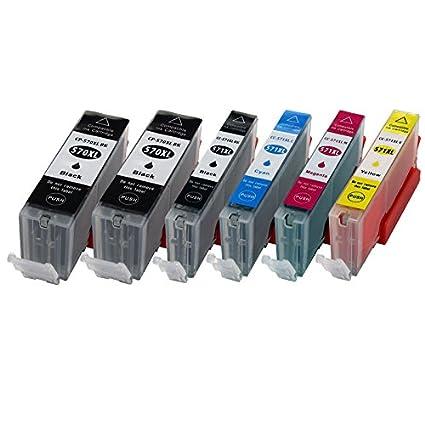 6 XL Cartuchos de impresora para Canon pgi570 X L cli571 X L ...