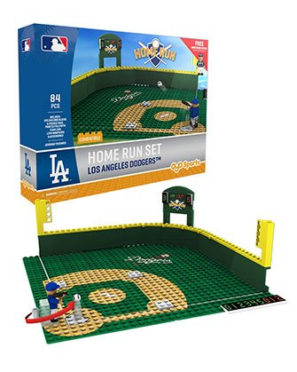 Oyo Sportstoys MLB Los Angeles Dodgers Home Run Derby Set with Minifigure, Small, White -