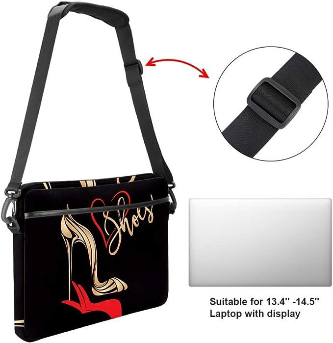 Foxes Green Pattern Laptop Bag Satchel Tablet Sleeve Bussiness Shoulder Bag Document Handbag Briefcase 15x5.4 Inch