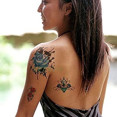 ljmljm 3 PC Impermeable Etiqueta engomada del Tatuaje de Dragon ...