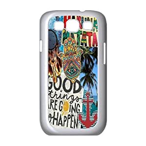 Custom Colorful Case for Samsung Galaxy S3 I9300, Good Vibes Cover Case - HL-503981