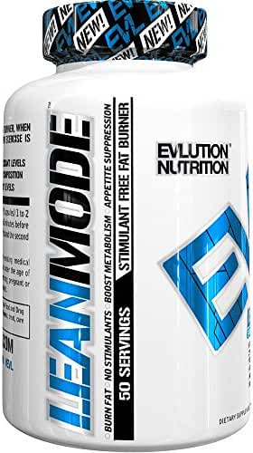 Evlution Nutrition Lean Mode Stimulant-Free Weight Loss Supplement with Garcinia Cambogia, CLA and Green Tea Leaf extract, (50 Servings)