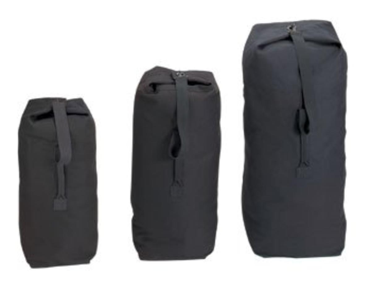Rothco Top Load Canvas Duffle Bag, Black, 21'' X 36''