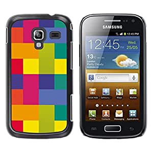 LECELL--Funda protectora / Cubierta / Piel For Samsung Galaxy Ace 2 I8160 Ace II X S7560M -- Polygon Art Vibrant Colors Yellow Pink --