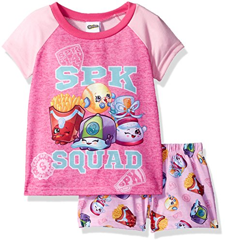 (Shopkins Little Girls' Collection 2-Piece Pajama Set, Pink, 6)