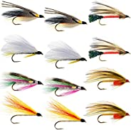 The Fly Fishing Place Classic Streamers Fly Fishing Flies Collection - Assortment of 12 Trout Wet Fly Streamer