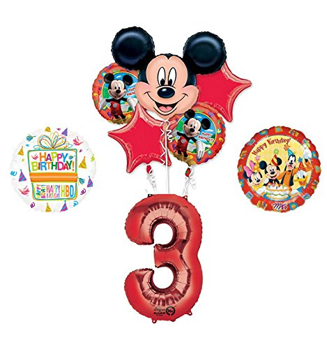 Mickey Mouse and Friends 3rd Birthday Party Supplies and Balloon Decorations ()