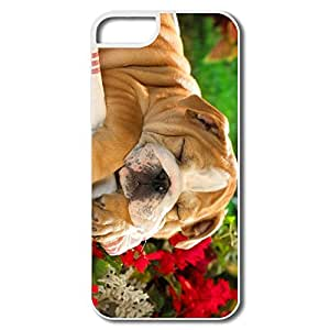 IPhone 5 Cases, Sleeping Day Away Cases For IPhone 5/5S - White Hard Plastic