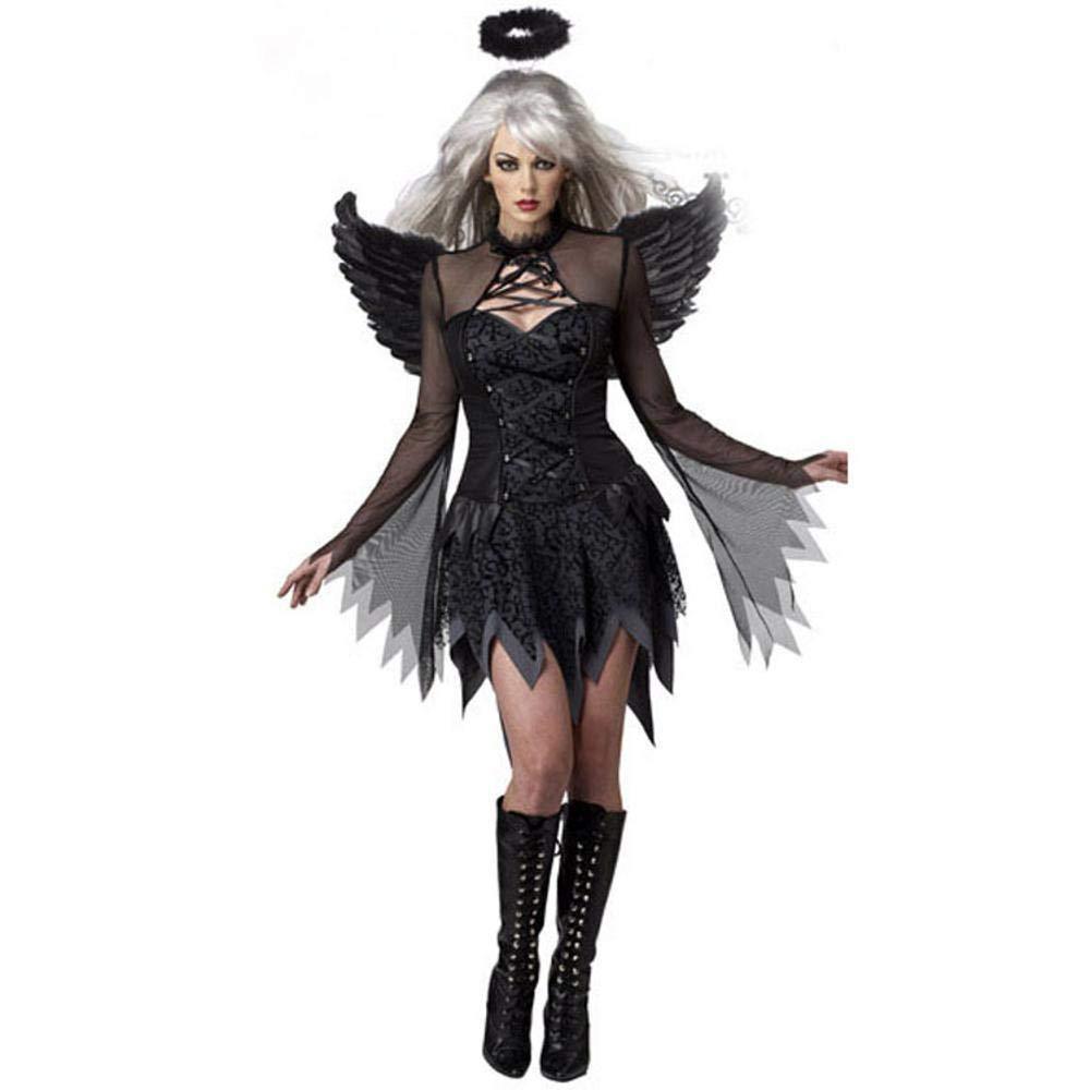 WWAVE Lady Halloween Sexy Traje de ángel Oscuro Juego ...