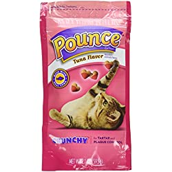 Pounce Tuna Flavored Cat Treat Crunchy Snack 2.1 oz (Pack of 2)