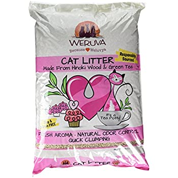 Weruva Its A Tea Potty! Hinoki Wood & Green Tea Natural Cat Litter, 11.7 lb Bag