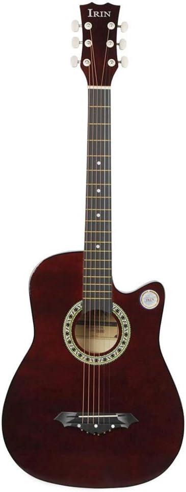 ギター、 大人の初心者のための38インチのアコースティックギターアコースティックギター バランスのとれた強力な音声 (Color : E, Size : 41 inches)