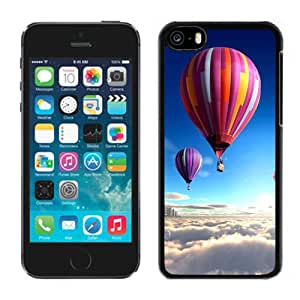 New Personalized Custom Designed For iPhone 5C Phone Case For Colorful Hot Air Balloons Over The Clouds Phone Case Cover