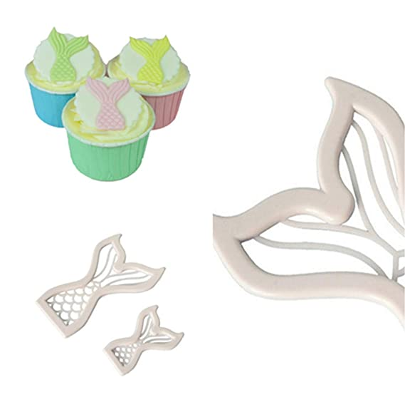 Amazon.com: Gessppo Mini Fish Tail Cake Mold Biscuit Cookie Cutter Mold DIY Baking Pastry Tool Baking Tool for Bread Chocolate Cookie Jelly Biscuit Candy ...