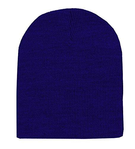 Royal Blue Knit Hat - 3