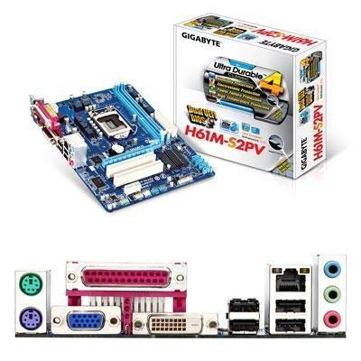 Gigabyte Ultra Durable 4 Classic GA-H61M-S2PV Desktop Motherboard - Intel H61 Express Chipset - Socket H2 LGA-1155
