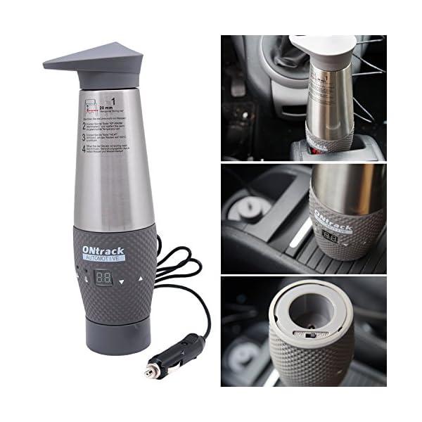 51HeezkegZL Kamber 12V-Wasserkocher Schnell LCD Vakuum Edelstahl Auto-Reise-Wasserkocher 12-Volt-Zigarettenanzünder