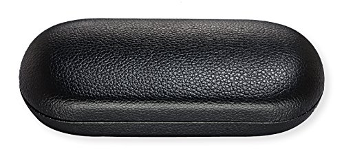 Hard Eyeglass Case For Women & Men, Small To Medium Frames, Faux Leather, - Strong Case Glasses