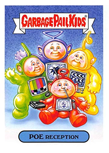 2019 Topps Garbage Pail Kids We Hate the '90s TV Sticker B-Names Non-Sport #19 POE RECEPTION Collectible Trading Card Sticker (Teletubbies)