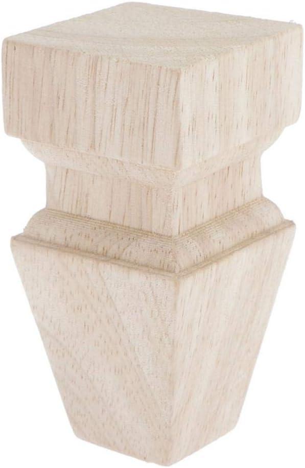 Patas para Muebles de Madera para Cocina Color Natural 10cm 02