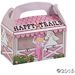 Pink Cowgirl Treat Boxes - 12 pc