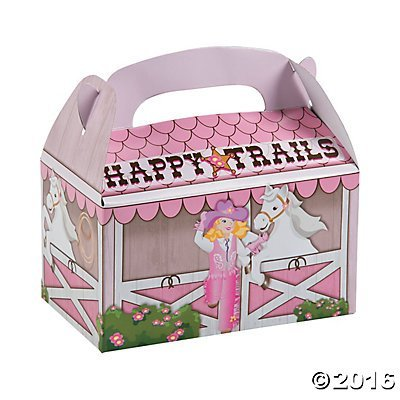 (Pink Cowgirl Treat Boxes - 12 pc)