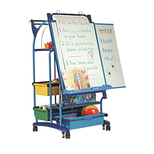 Sided Reversible Chalkboard Double (Royal Standard Inspiration Station Free-Standing Whiteboard, 3' H x 3' W)