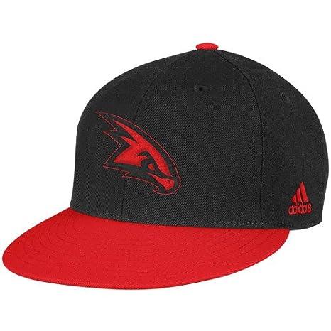 3da07822adfc6 Image Unavailable. Image not available for. Color: NBA adidas Atlanta Hawks  Black-Red Vibe Snapback Adjustable Hat
