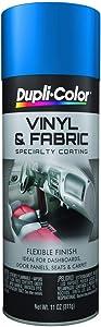 Dupli-Color (HVP102-6 PK Blue Vinyl and Fabric Coating - 11 oz. Aerosol, (Case of 6)