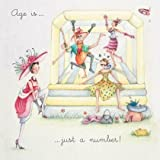 """Greetings Card """"Age Is Just A Number"""" - Blank Greetings Card by Berni Parker (LL64)"""
