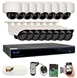 GW Security 16CH Plug & Play 5MP DVR 1920p CCTV Security System, (8) Bullet & (8) Dome 5-Megapixel (2592TVL) Weatherproof 2.8~12mm Varifocal Home Surveillance Camera System 4TB HDD, QR-Code Easy Setup Review