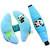KELYNN Baby Head Neck Support Pillow for Car Seat Stroller, Safety Neck Relief for Newborn Infant Carseat Napup(Panda and Bamboo)