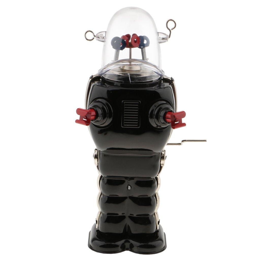 MonkeyJack Vintage Robot Toy Wind Up Clockwork Space Robots Tin Toys Kids Collectible Gifts - Black by MonkeyJack (Image #4)