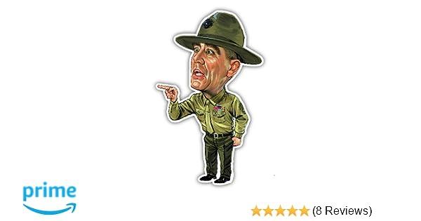 Amazon.com  NG R Lee Ermey Decal Vinyl Sticker Funny Cartoon Caricature  USMC Military FMJ  Automotive 557a046ce30f