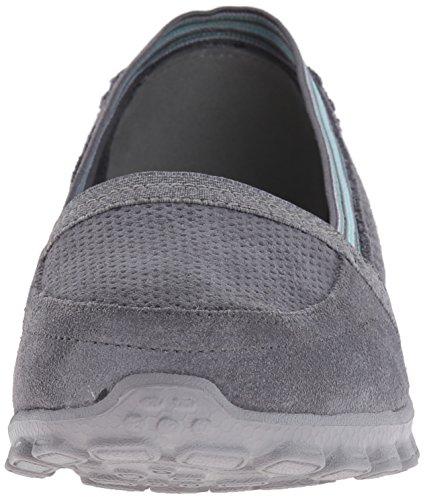 Skechers Sport Dames Ez Flex Tweetheart Slip-on Sneaker Houtskool / Blauw