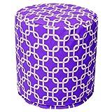 Majestic Home Goods Purple Links Indoor Bean Bag Ottoman Pouf 16'' L x 16'' W x 17'' H