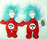 Thing 1 & Thing 2 Plush Dr. Seuss Landing Figures 6""