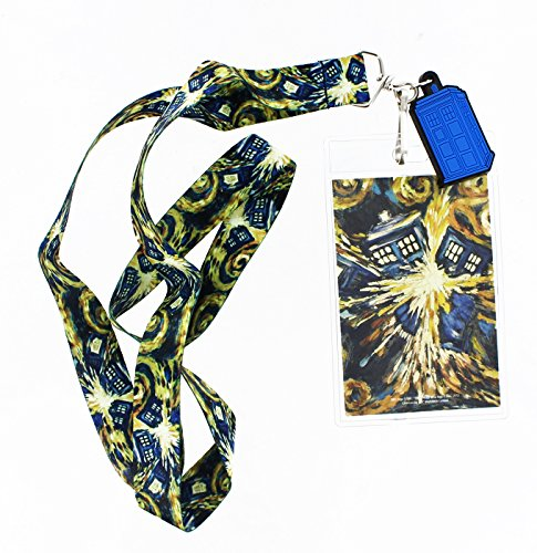 Doctor Who Van Gogh Exploding Tardis Lanyard with 2D Charm