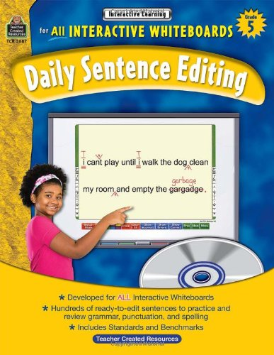 Daily Sentence Editing, Grade 5: Interactive Learning for all Interactive Whiteboards